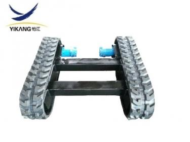 Rubber track undercarriage for working aloft