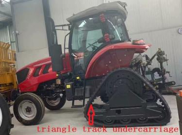 Triangle crawler tractor rubber track undercarriage