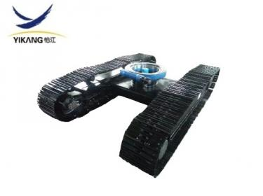 Small crawler steel track undercarriage for rotary excavator