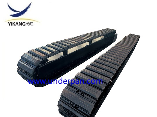 10 ton mobile crusher steel track undercarriage with rubber pad